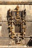 Okno w manueline stylu w Tomar, Portugalia Obrazy Stock