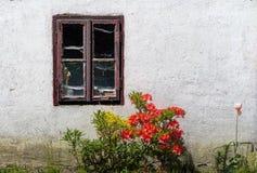 Okno w ogródzie Obrazy Stock
