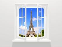 Okno w Paryż ilustracja wektor