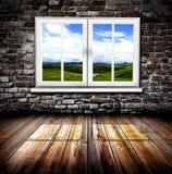 Okno w pokoju Obraz Royalty Free