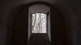 Okno w Siesliska fortyfikacjach Salis Soglio Obrazy Royalty Free
