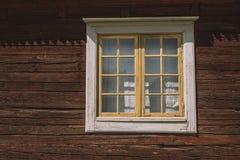 Okno w Skansenowskim, Szwecja Fotografia Stock