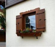 Okno wiejski dom Obrazy Stock