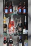 Okno z alkoholicznymi napojami San marino Fotografia Stock