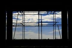Okno z chmurą Obraz Royalty Free
