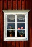Okno z kwiatami Zdjęcie Stock