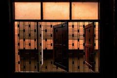 Okno z stalową klatką Zdjęcia Royalty Free