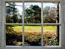 Okno z widokiem Obraz Stock