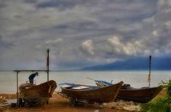 około 2 złej Chang koh pogody zdjęcie royalty free