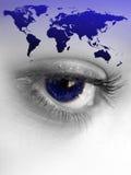 oko świat royalty ilustracja