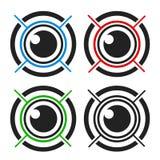 Oko biometryczny Zdjęcia Royalty Free