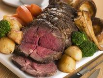 oko brytyjskiej wołowiny żebra pieczeń Obraz Stock