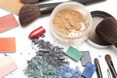 Miejsce pracy makeup artysta Zdjęcie Stock