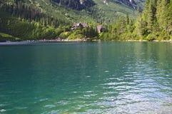 Oko de Morskie, Polônia, moutains de Tatra Fotografia de Stock Royalty Free