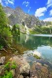 Oko Denny jezioro w Tatrzańskich górach Obrazy Royalty Free