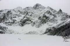 Oko di Morskie nell'inverno Polonia Fotografia Stock Libera da Diritti