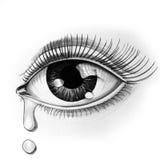 Oko i łza royalty ilustracja