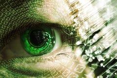 Oko i elektroniczny obwód royalty ilustracja