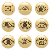 oko ikony royalty ilustracja