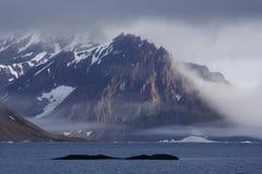 około Svalbardzie lusterka Obrazy Royalty Free