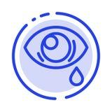 Oko, obwiśnięcie, oko, Smutny błękit Kropkująca linii linii ikona ilustracja wektor
