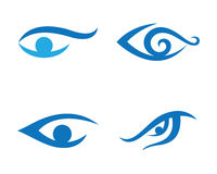 Oko opieki loga szablon Obrazy Royalty Free