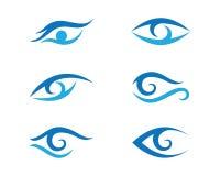 Oko opieki loga szablon Obrazy Stock
