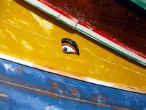 Oko Osiris, łódź rybacka zdjęcie royalty free