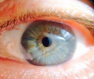 Oko piłki zakończenie up Zdjęcia Stock