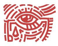 Oko plemienny ilustracji