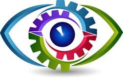Oko przekładni logo ilustracja wektor