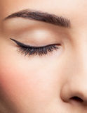 Oko strefy makeup obrazy stock