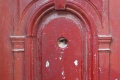 Oko szpieg przez przyglądającej dziury Zdjęcie Stock