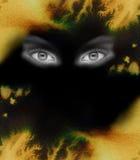 oko tła ognia Obrazy Stock