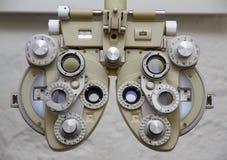 Oko test - Opitician wyposażenie Zdjęcia Royalty Free