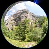 Oko widok góra w Rhodope górach, Bułgaria Obraz Stock