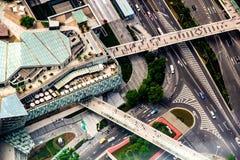 Oko widok przejścia i zakupy centrum handlowe w Lujiazui, Szanghaj Fotografia Stock