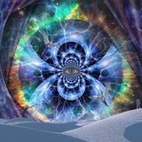 Oko wszechświat royalty ilustracja