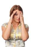 oko zamknięta dziewczyna palma szpiegów Fotografia Stock