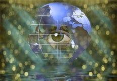 oko ziemscy rówieśnicy ilustracja wektor