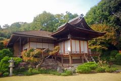 Okochi Sanso Villa, Kyoto, Japan. A nice, traditional wooden hut in Kyoto Stock Photos