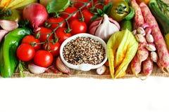 Okokt blandad quinoa med grönsaker Royaltyfria Bilder