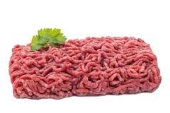 Okokt kött med garnering royaltyfri bild