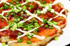 Okonomiyaki Royalty-vrije Stock Foto's