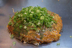 Okonomiyaki hiroshima style Royalty Free Stock Photo