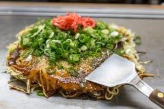 Okonomiyaki japanese pizza Royalty Free Stock Photos