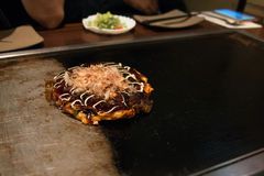 Okonomiyaki.(japenese pizza). Close up Okonomiyaki.(japenese pizza Royalty Free Stock Photo