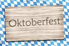 Okotberfest Bavaria Wood Sign Royalty Free Stock Images