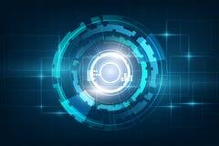 Okrąża błękitnego abstrakcjonistycznego technologii innowaci pojęcia wektoru backgr ilustracja wektor