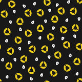 okrąża biały kolor żółty Zdjęcie Stock